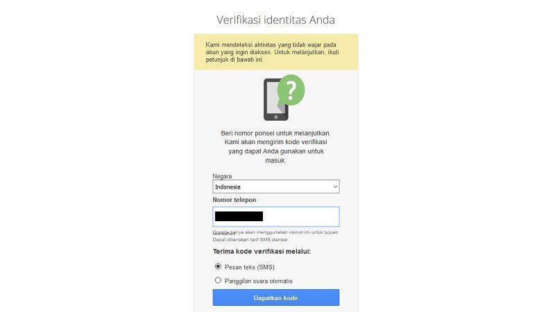 cara memulihkan akun gmail yang